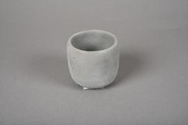 A106TN Grey cement terracotta pot D7cm H7cm