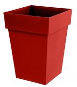 A107A6 Pot toscane rouge rubis 39x39cm H53cm