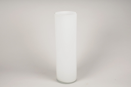 A107PS White cylinder glass vase D15cm H50cm