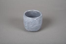 A107TN Grey cement terracotta pot D7cm H7cm