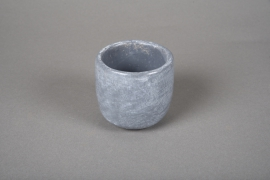 A107TN Grey cement terracotta pot D7cm H7cm