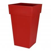 A108A6 Pot toscane zen rouge rubis 39x39cm H65cm