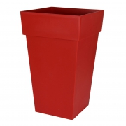 A108A6 Toscana pot ruby red 39x39cm H65cm