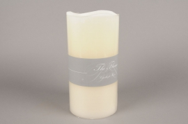 A108HH Electric ivory candle LED D15cm H30cm
