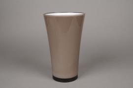 A108QX Vase en plastique gris D16cm H27cm