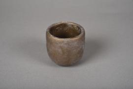 A108TN Cache-pot en terre cuite bronze D7cm H7cm