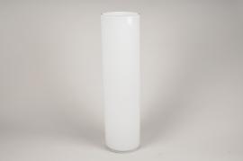 A109PS Vase en verre cylindre blanc D15cm H60cm