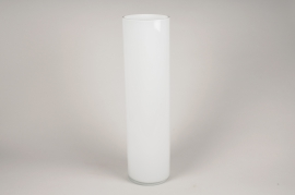 A109PS White cylinder glass vase D15cm H60cm