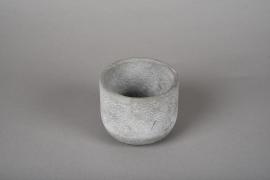 A109TN Cache-pot en terre cuite gris D11cm H9.5cm