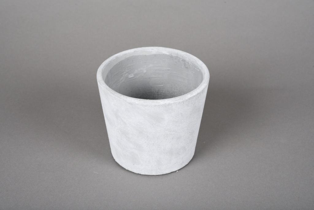 A110TN Cache-pot en terre cuite gris D12cm H10cm