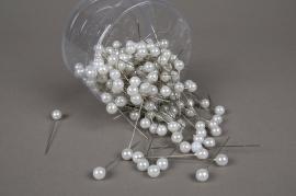 A111MG Boîte de 250 perles sur épingle blanc 10x60mm