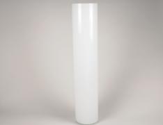 A111PS Vase en verre cylindre blanc D15cm H80cm