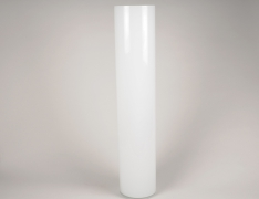 A111PS White cylinder glass vase D15cm H80cm