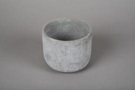 A111TN Cache-pot en terre cuite gris D12.5cm H11cm