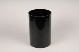 A112PS Black cylinder glass vase D20cm H30cm