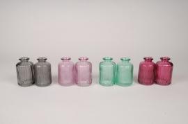 A112R4 Set de 24 vases en verre assortis D6cm H10cm