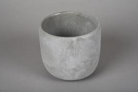 A112TN Cache-pot en terre cuite gris D14cm H13cm