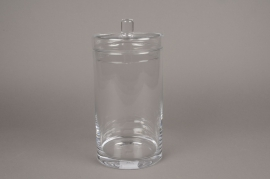 A113PQ Glass sweetbox D15cm H31cm