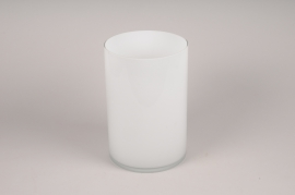 A113PS White cylinder glass vase D20cm H30cm