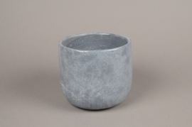 A114TN Grey terracotta planter D17cm H15cm