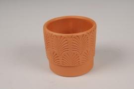 A115T3 Cache-pot en terre cuite rose D7.5cm H7cm