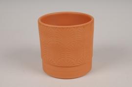 A116T3 Cache-pot en terre cuite rose D10.5cm H11cm