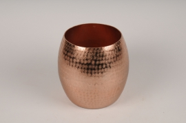 A117BV Copper metal vase D19cm H20cm