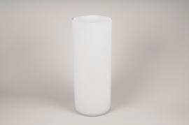 A117PSWhite cylinder glass vase D20cm H50cm
