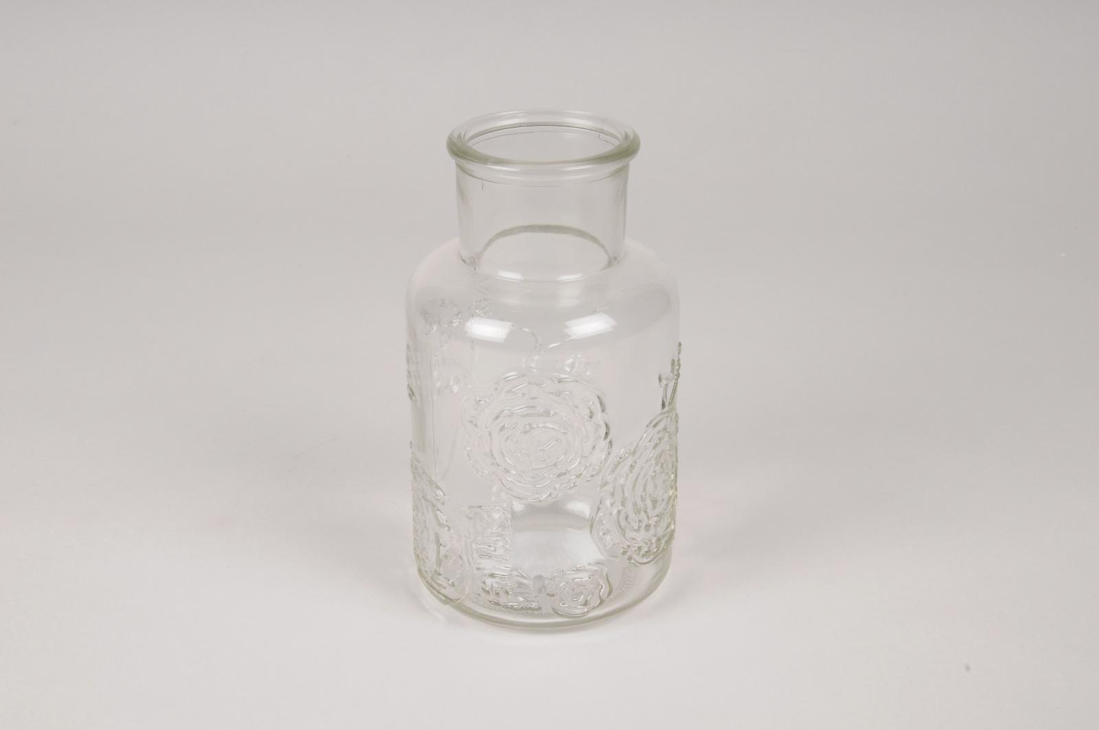 A117R4 Vase bouteille en verre D9cm H16cm