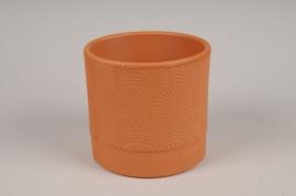 A117T3 Cache-pot en terre cuite rose D13.5cm H13cm