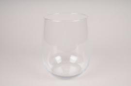 A117W3 Vase en verre obus D17cm H22.5cm