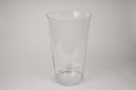 A119DQ Vase en verre évasé D30cm H50cm