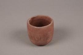 A120TN Cache-pot en terre cuite rose D7.5cm H7cm
