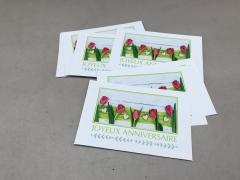 A121MQ Pack of 15 postcards Joyeux Anniversaire