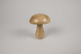 a121wg Champignon en bois de manguier D10cm H12cm