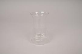 A122PM Vase en verre soliflore entonnoir D6.5cm H11cm