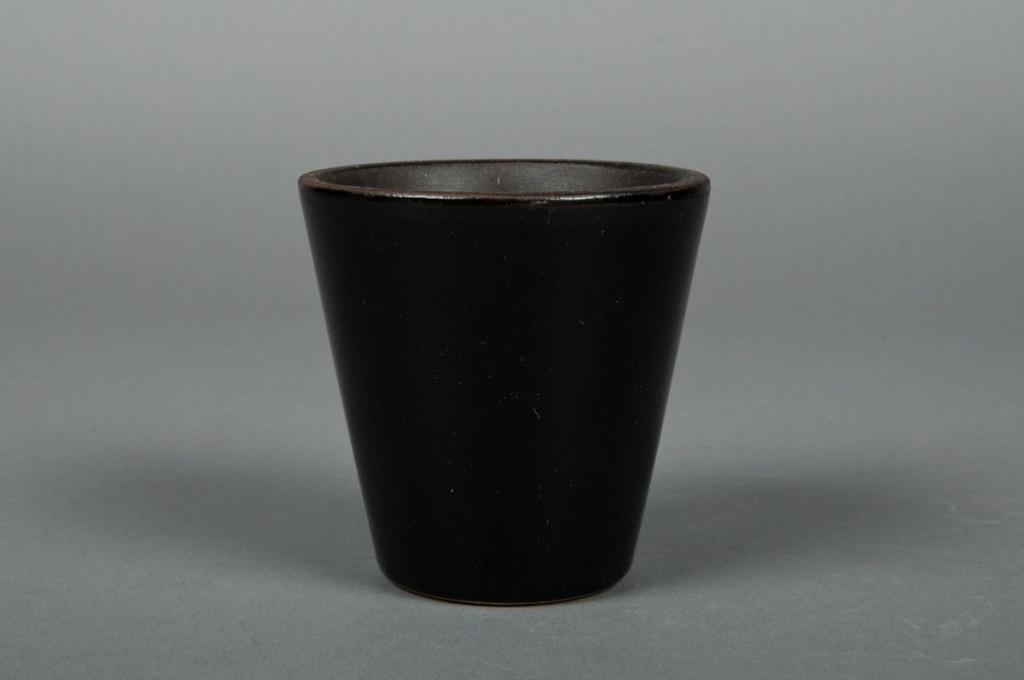 A122QS Pot en céramique noir D7cm H8cm
