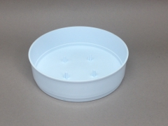 A122T7 Bag of 12 white plastic bowls D18cm H4cm