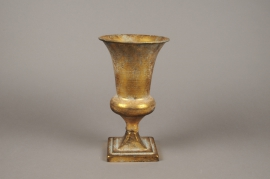A123NM Vase Médicis en métal or antique D16cm H28cm