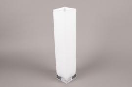 A124I0 Vase en verre blanc 10cm x 10cm H50cm