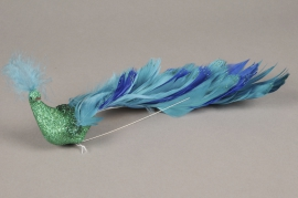 A125GM Glitter peacock pick L27cm