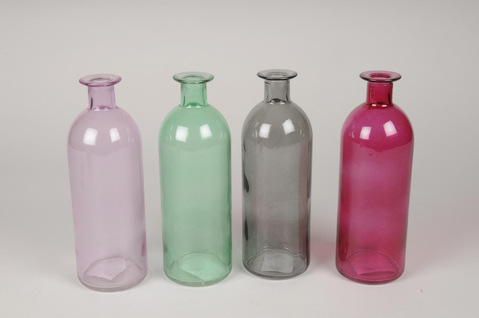A125R4 Set de 24 vases en verre assortis D6.5cm H21cm