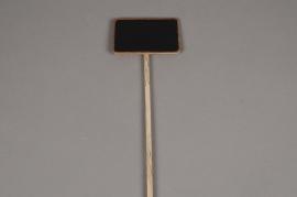 A126MO Bag of 10 slate tags on stick 10x6cm H40cm