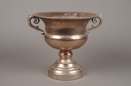 A128NM Vase Médicis en métal or rose antique D29cm H27cm