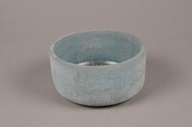A128TN Blue terracotta pot D16,5cm H8.5cm