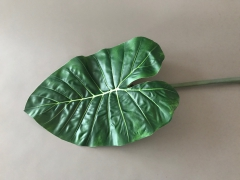 a129nn Feuille d'alocasia artificiel vert L90cm