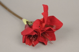 a132nn Artificial red amaryllis H47cm