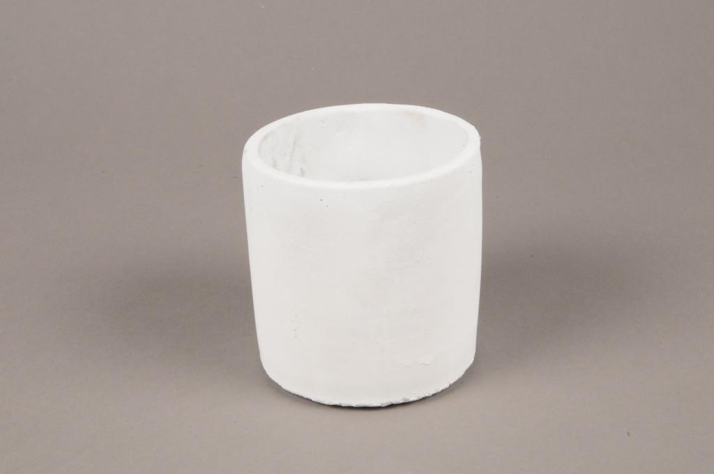 A132TN White terracotta planter D10cm H11cm