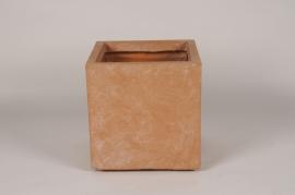 A133NM Pot clayfibre terracotta 27x27cm H28.5cm