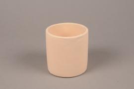 A133TN Cache-pot en terre cuite beige D10.5cm H11cm